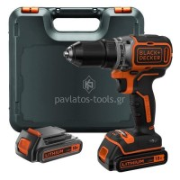 Δραπανοκατσάβιδο Brushless 18V (2x1.5Ah) Black&Decker BL186KB
